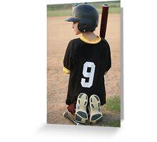 Boy Waiting To Bat Greeting Card