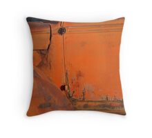 Abandoned red truck on Route 66 Throw Pillow