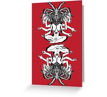 Woman is a Devil Greeting Card