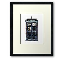 Stylized Police Box Framed Print