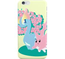 Corsola and Amaura in Spring iPhone Case/Skin
