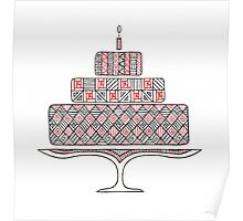 Patterned Cake Poster