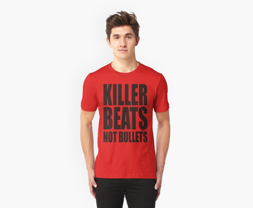 KILLER BEATS NO BULLETS by Awesome Rave T-Shirts