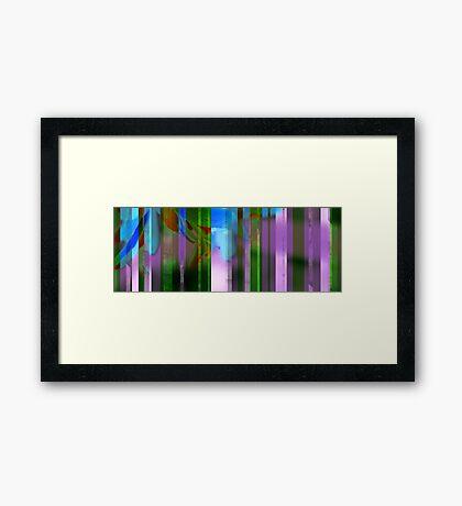 stripes in the garden Framed Print