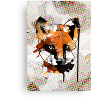 Geometric Watercolor Fox Canvas Print