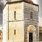 San Giovanni Baptistery, Volterra, Italy by Corina Daniela Obertas