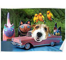 Manny's Pink Safari-mobile Poster
