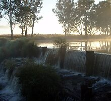Greenup Weir Sunrise by JessieK