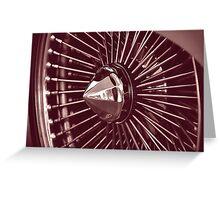 hubcap Greeting Card