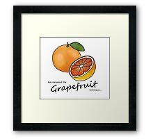 The Grapefruit Technique Framed Print