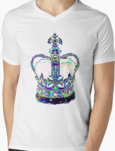 King's Crown Mens V-Neck T-Shirt