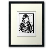 Kenzi Sketch Framed Print