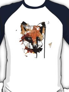Geometric Watercolor Fox T-Shirt