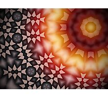 Radial geometric glowing pattern with warm colors Photographic Print