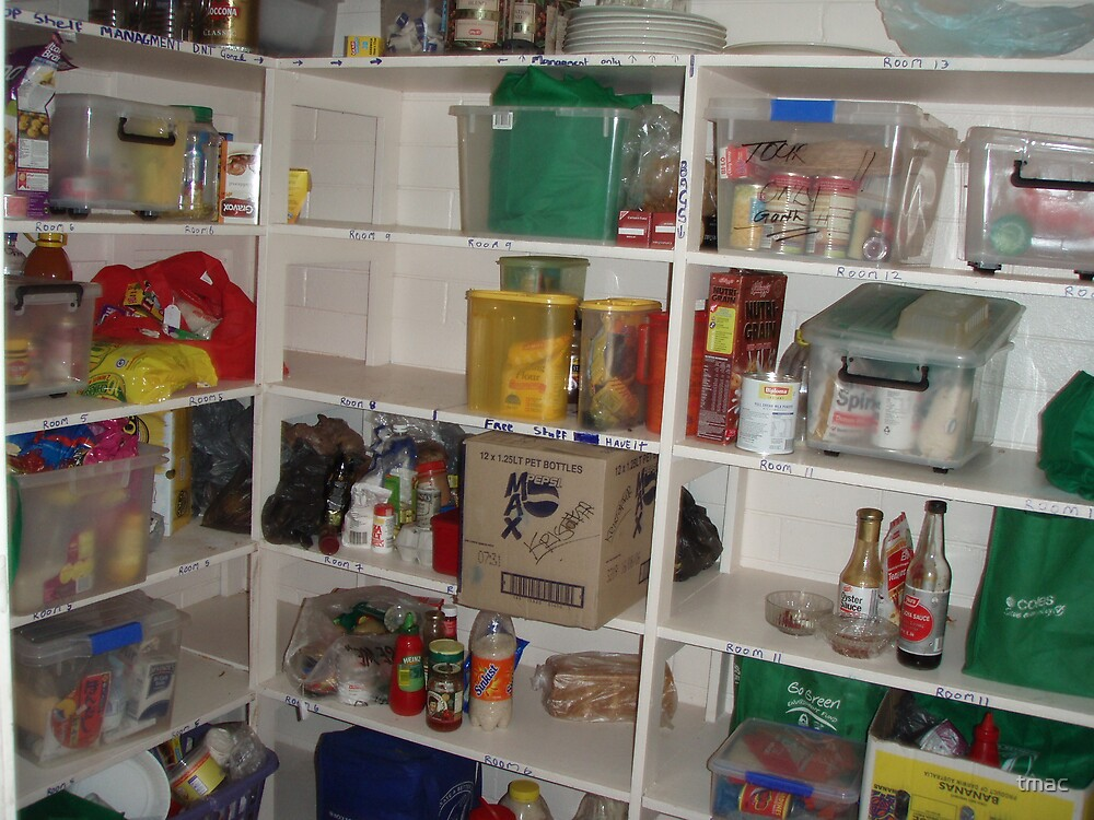 Hostel Food Shelves by tmac