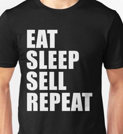 Eat Sleep Sell Repeat Sport Shirt Funny Cute Gift For Salesman Sale Hustler Real Estate Unisex T-Shirt