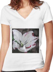Bleeding Tulip Tears Women's Fitted V-Neck T-Shirt