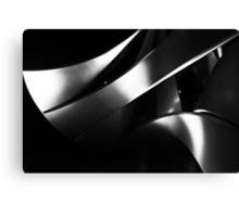 Black into white into grey Canvas Print