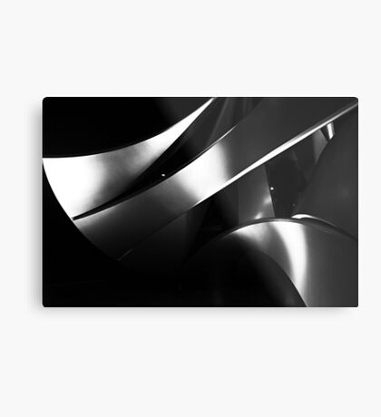 Black into white into grey Metal Print