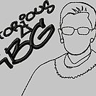 Notorious RBG Graffiti by storiedthreads