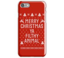 Home Alone Filthy Animal Ugly Sweater iPhone Case/Skin