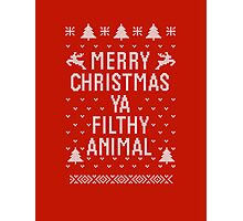 Home Alone Filthy Animal Ugly Sweater Photographic Print