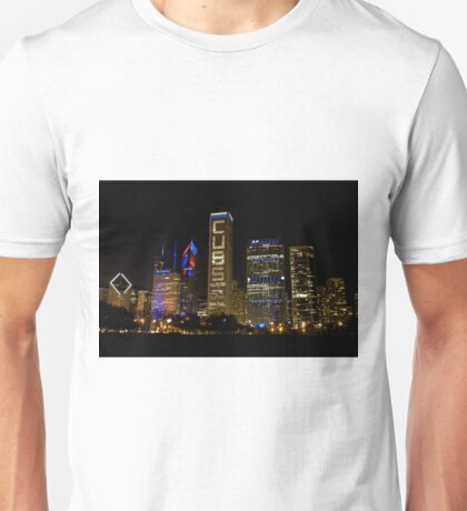 Cubs Symmetrical Skyline Chicago Unisex T-Shirt