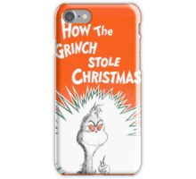 How the Grinch Stole Christmas Book Cover iPhone Case/Skin