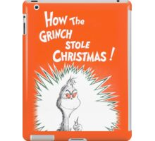 How the Grinch Stole Christmas Book Cover iPad Case/Skin