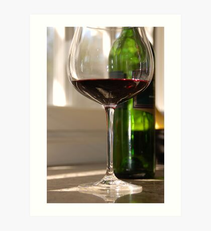 A glass of red Art Print