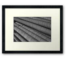 Threaded Framed Print