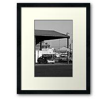 Train, bus, auto Framed Print