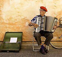 Piano Accordian Player by Wayne Eddy Photography