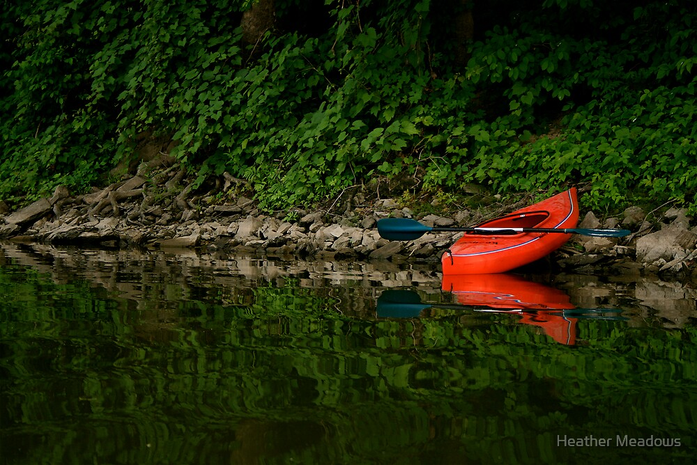 Red Kayak by Heather Meadows