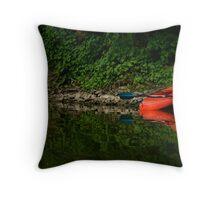 Red Kayak Throw Pillow