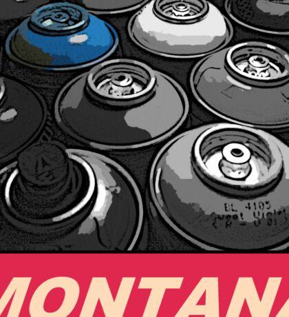 Montana Spray t-shirt Sticker