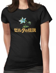 Zelda Breath of the Wild Flower Womens Fitted T-Shirt