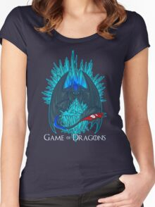 Game of Dragons - HTTYD2/GoT (With Text) Women's Fitted Scoop T-Shirt