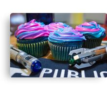 Timey Wimey Cupcakes Canvas Print