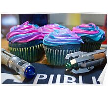 Timey Wimey Cupcakes Poster