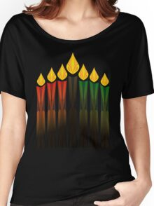 kwanzaa candles Women's Relaxed Fit T-Shirt