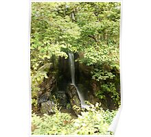 Japan - A Lil Waterfall Poster