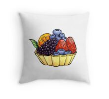 Fruit and Berry Dessert Cup Throw Pillow