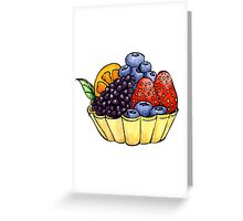Fruit and Berry Dessert Cup Greeting Card