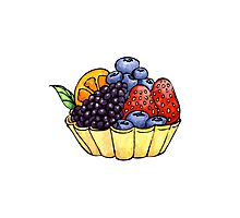 Fruit and Berry Dessert Cup Photographic Print