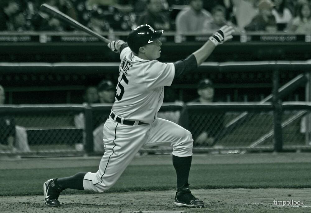 Brandon Inge Detroit Tigers Baseball by timpollock