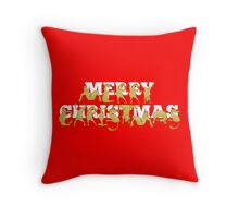 Merry Christmas Ponies Throw Pillow