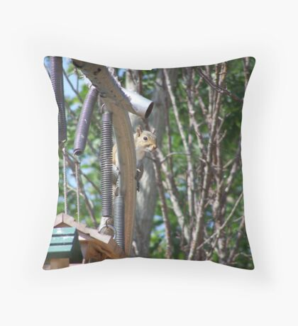 smart squirrel Throw Pillow