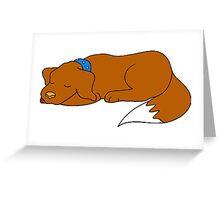 Dog Sleeping Greeting Card