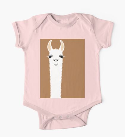 LLAMA PORTRAIT #9 One Piece - Short Sleeve